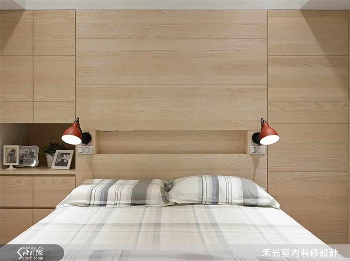 延續木質暖調的主臥室。