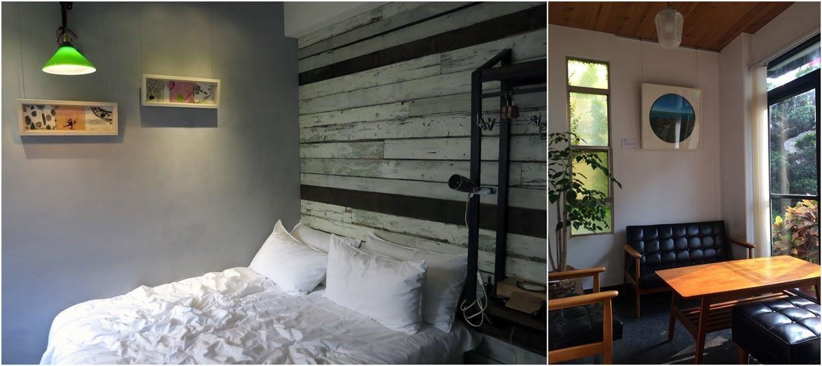 (左) 未艾公寓 x 藝術銀行 x 張純敏作品;(右)一緒二 x 蘇郁嵐風景畫,展現悠然自然的空間感。