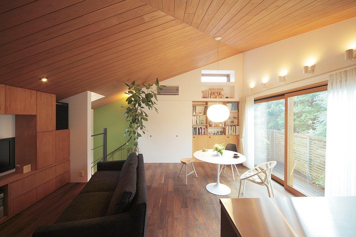 利用斜線限制來活用屋內空間
