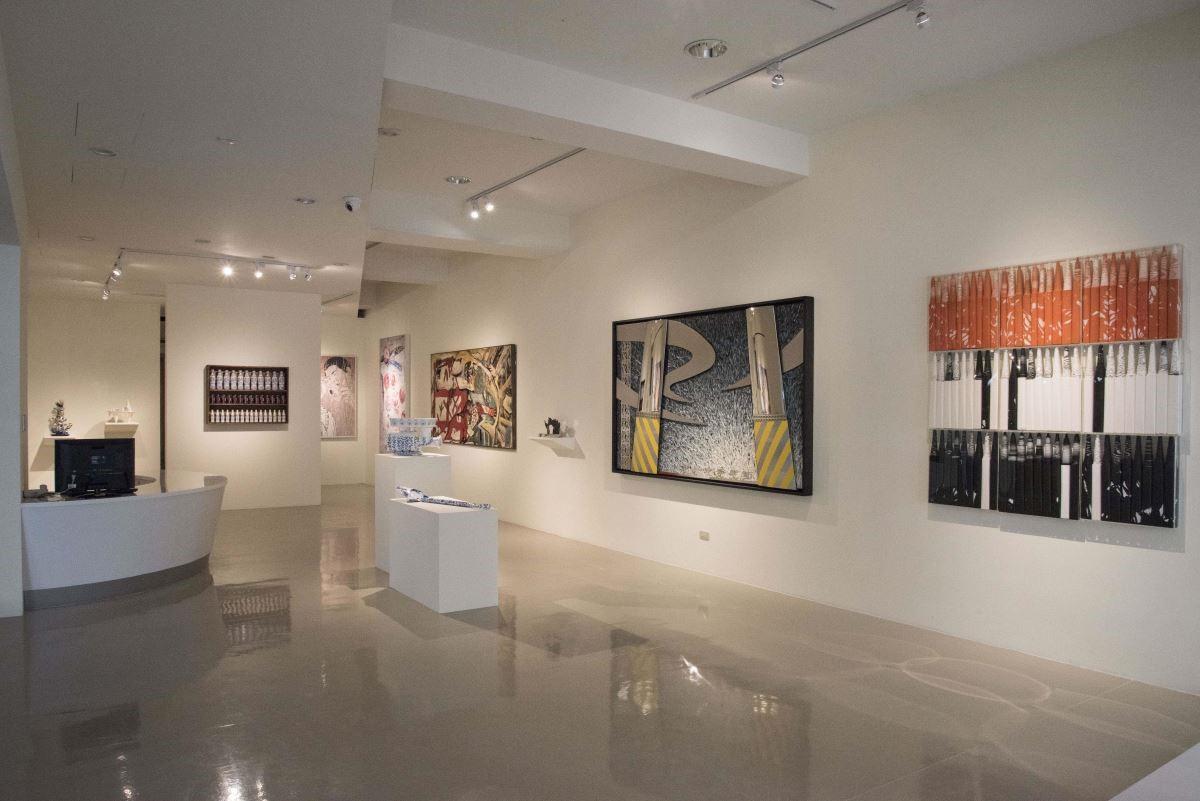 藝術銀行臺中展區「策格子:城市填空」展出多種形式的作品,讓觀者體驗不同風格的藝術創作