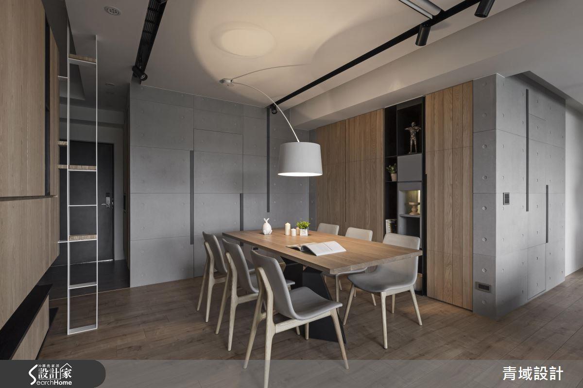 在地坪與壁面應用大量溫潤木元素,佐以水泥粉光或是清水模質感,就能創造休閒不失有型日式風情。