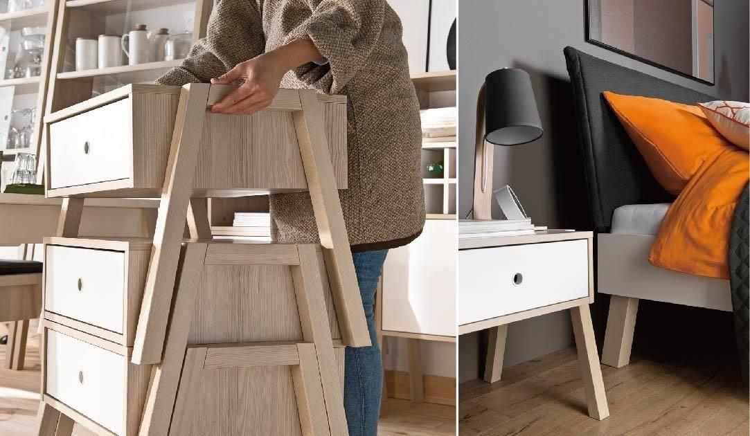 這款單品既是凳子、是邊几、是床頭櫃、甚至還能數件上下堆疊,成為臥室、更衣室裡的漂亮斗櫃,在小編心裡 CP 值超高。