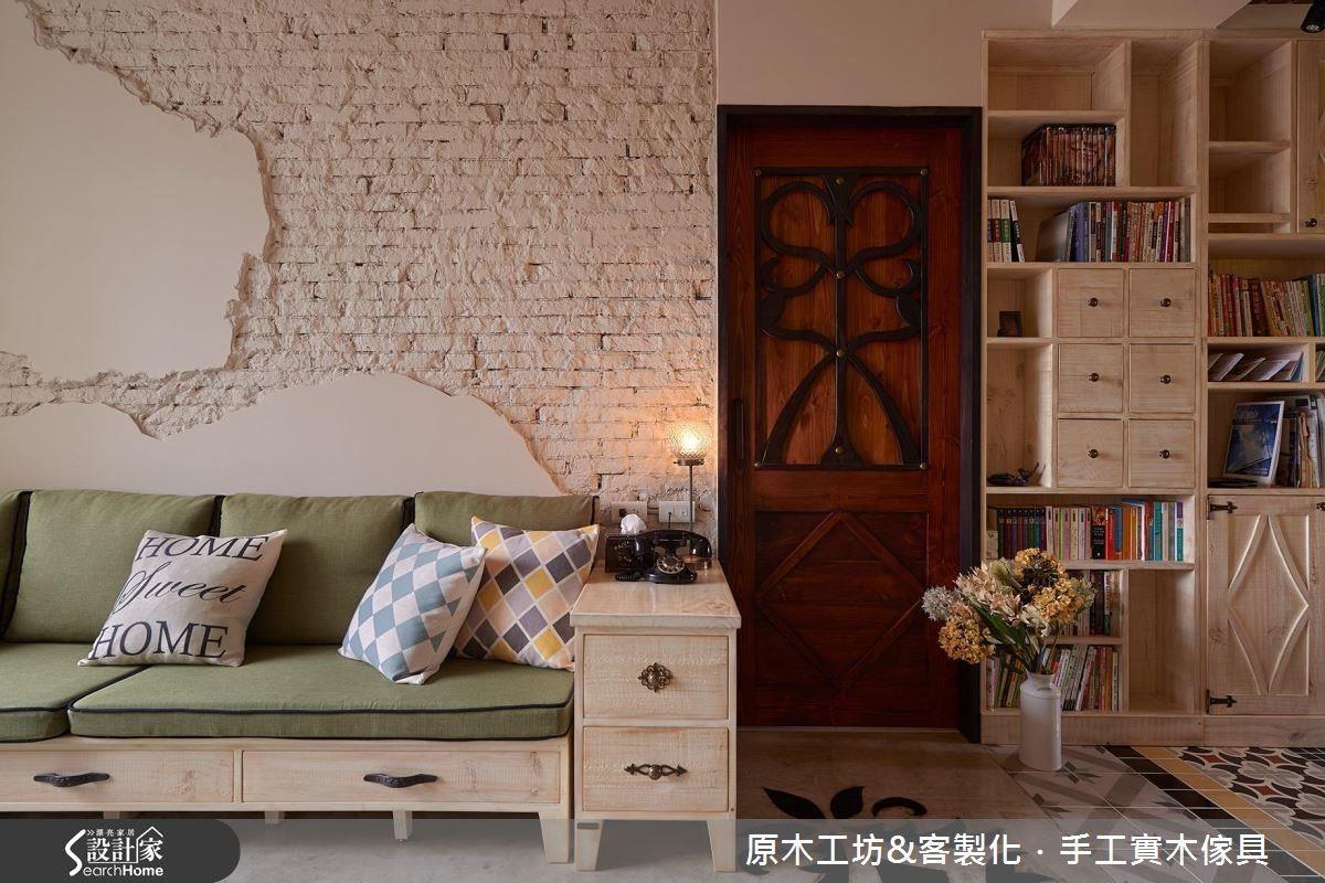 原始的磚牆,刷白、部分外露,透過細節的處理,有點粗獷又不太過,為整體空間增加了一些個性。