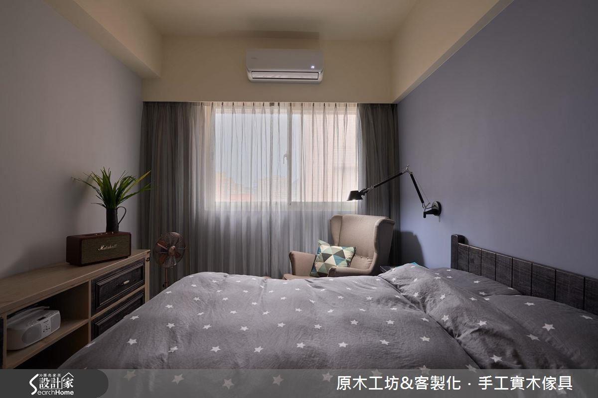 臥室乾淨溫暖,飄著淡淡的法式優雅。