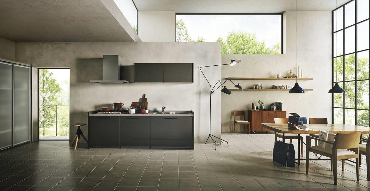 強調彈性配置,除了實用機能外,透過壁櫃面板與材質的選擇讓廚具能夠與整體空間合宜搭配,是 SUNWAVE 的產品重點。