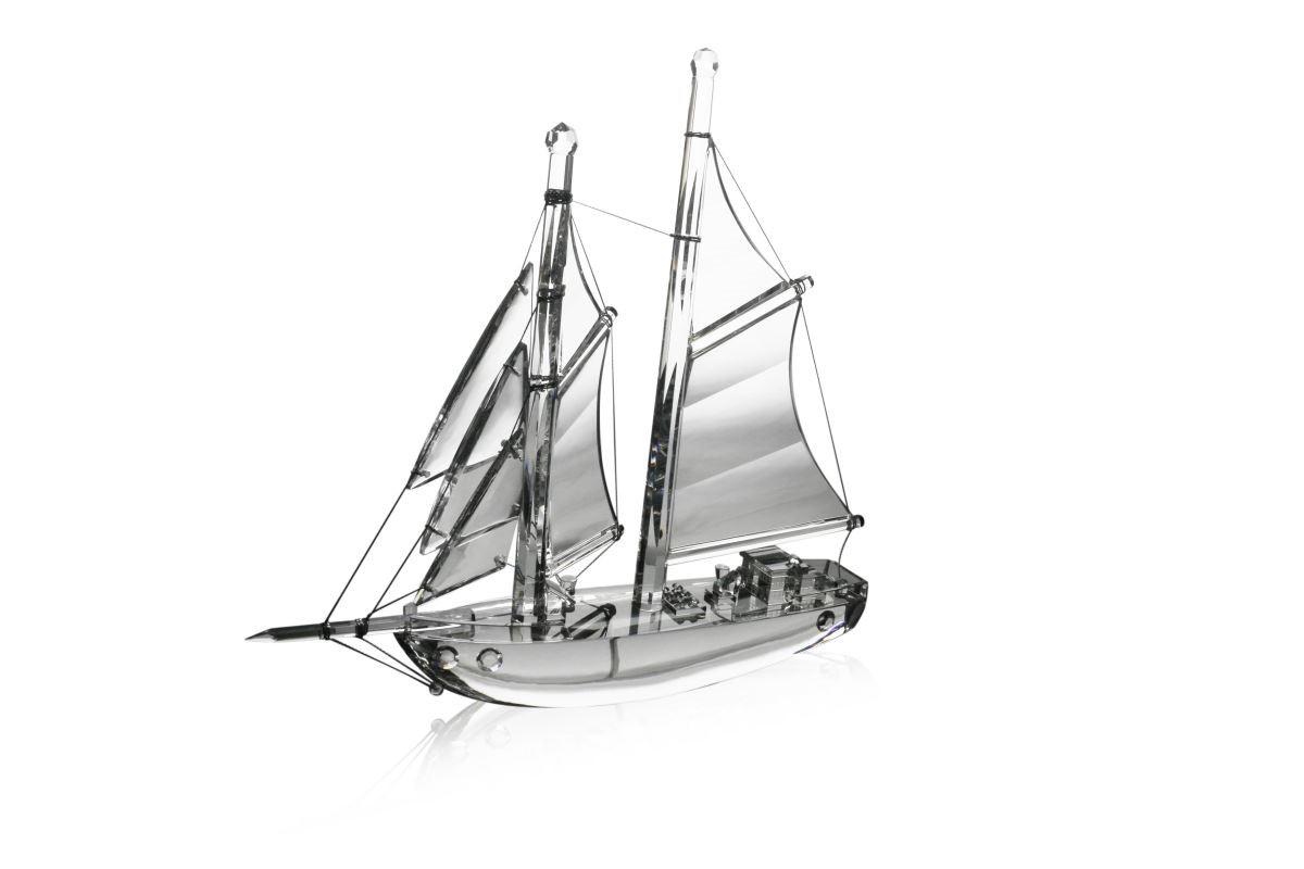 LOTUS 水晶 - 帆船 (揚帆) 3626cm 原價 $39,600 特價 $11,880 (絕版品賣完為止)