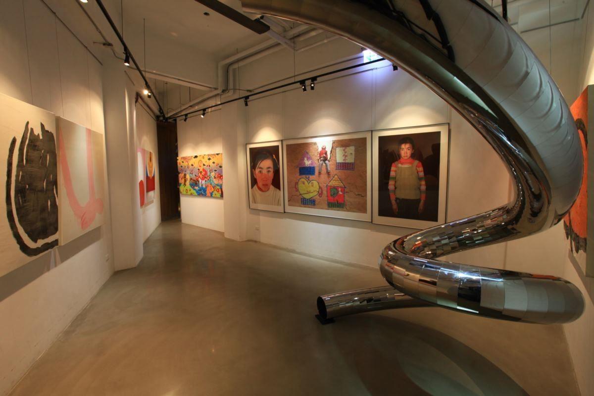 紅點文旅一樓,租賃藝術銀行藝術品舉辦展覽的策展空間。