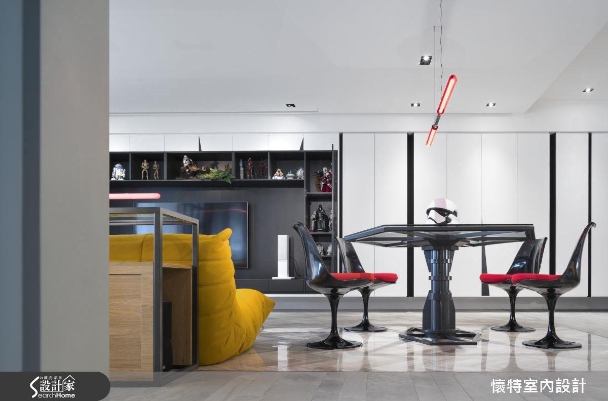 如果你是星際大戰迷,這個空間中的燈飾和鐵桌造型,應該覺得很有親切感吧?