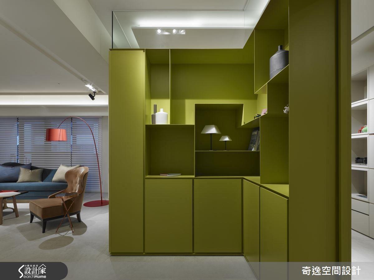 立面空間也兼具櫃體機能,滿足實用需求。