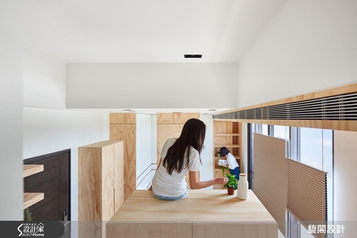 利用空間的高低落差,讓居住者可從不同的視野感受室內氛圍。