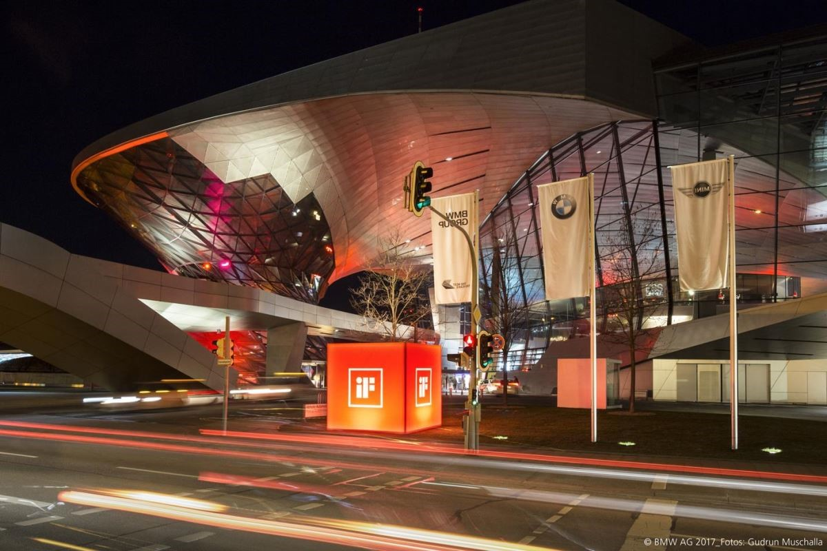 德國 iF 設計獎頒獎典禮在慕尼黑 BMW World 盛大舉行。 © BMW AG 2017 Photo by Gudrun Muschalla