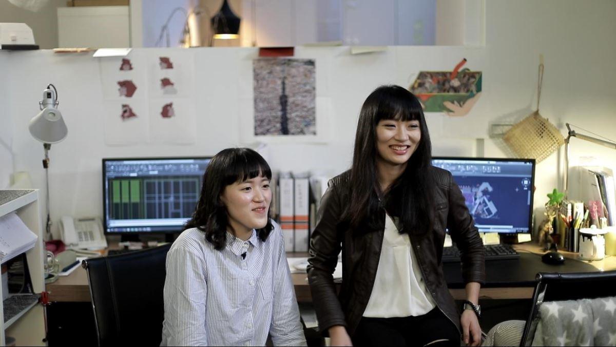黃芷珊(左)、傅敏(右)。