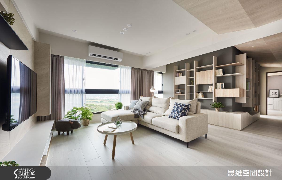 卸除空間一道隔間牆後,並以開放型式為主,替整體環境創造出寬闊、大器的尺度。