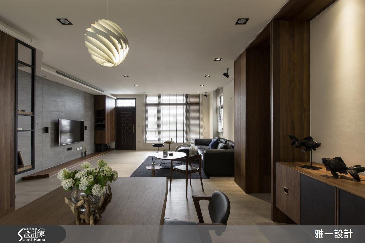 公共區域採開放式設計,並藉由家具的鋪排來界定各個環境,成功創造出寬敞的視覺尺度。
