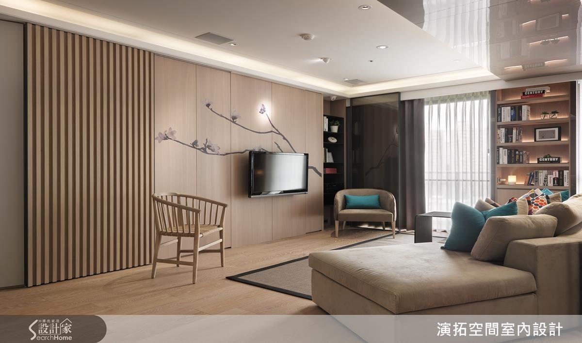 木質調的溫潤空間,內嵌的收納與適度照明,和諧而內斂的韻致提升出生活質感。