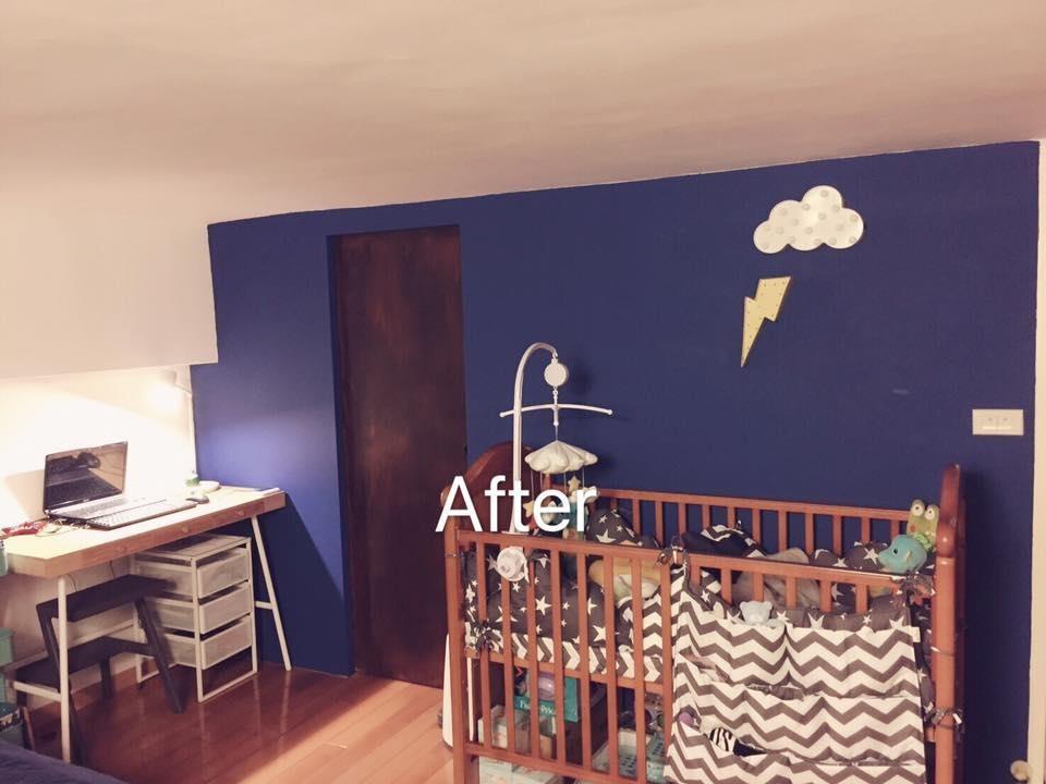 將原先的木門手工打磨,並除新塗刷木頭漆,搭配在北歐家居挑選充滿童趣的 LED 夜燈,打造優雅的北歐感受。圖片提供_居家收納Mr.許