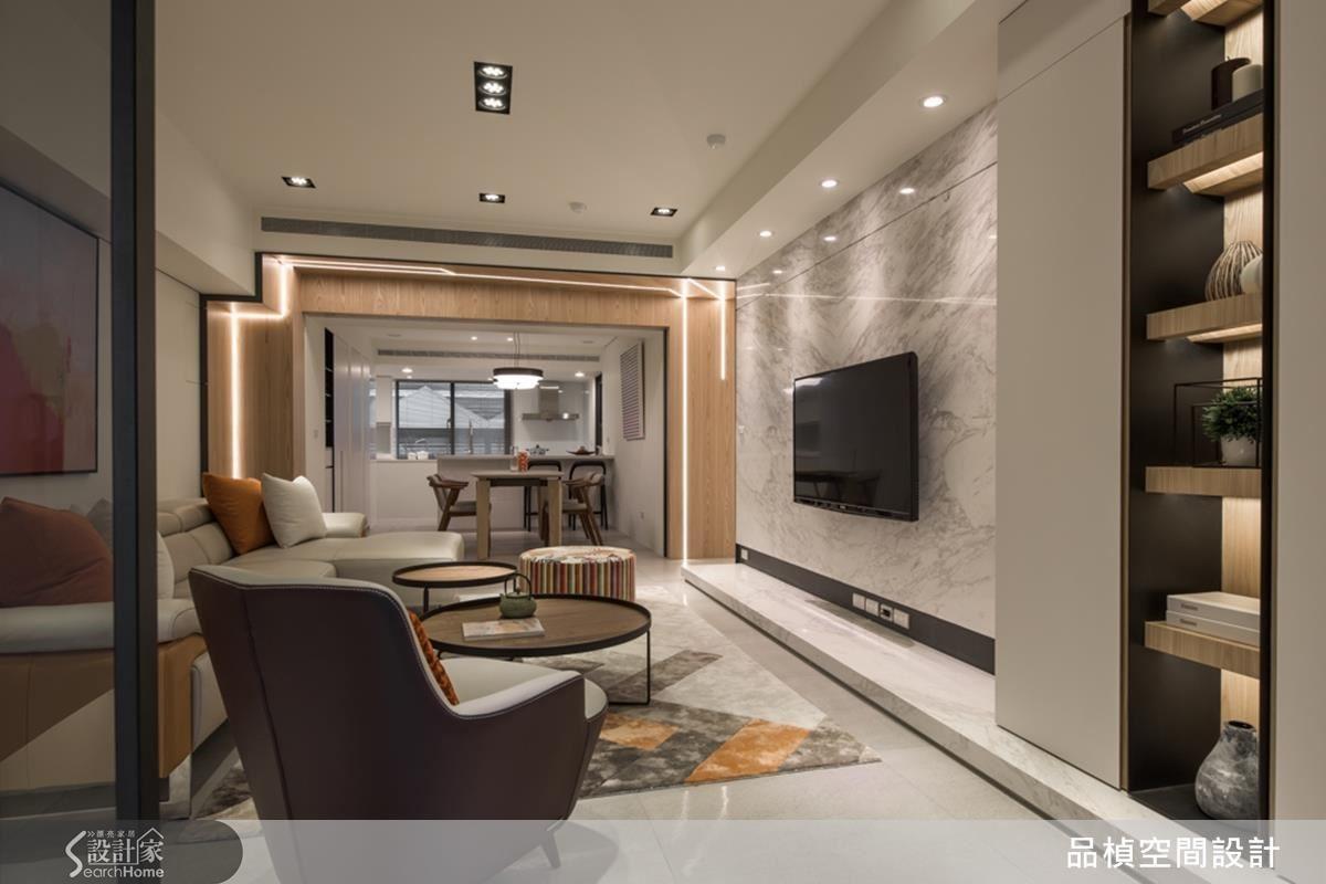 陳膺信設計師打開公領域空間,以通透、延展讓住家明亮舒適。