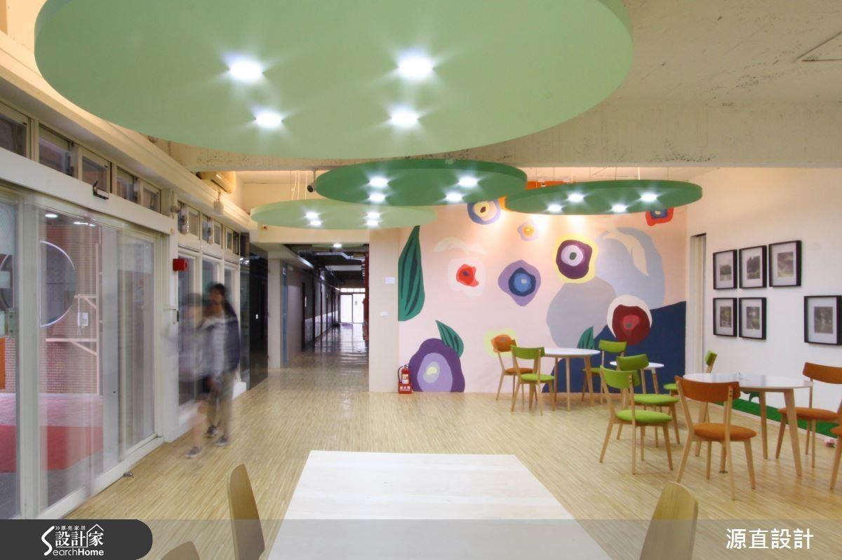 明亮北歐風格的開放公共空間,為學生在生活中延伸出清新無壓的紓壓感受。