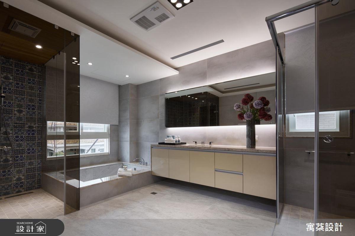 二樓為休憩區域,以偏美式的調性融合現代風,讓空間呈現舒適以及視覺上的變化。