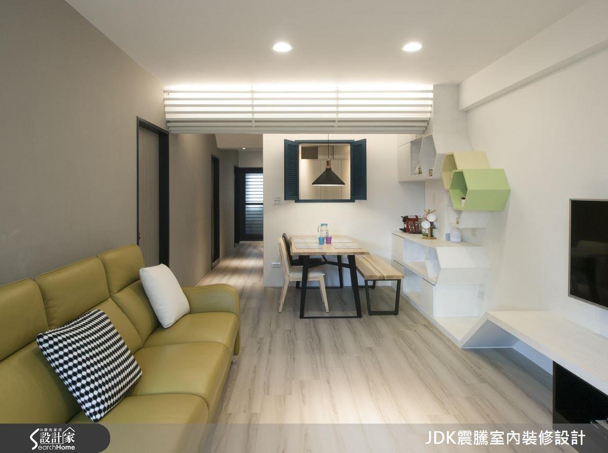 淨白沒有多餘贅飾的北歐居家,以繽紛的色彩點綴軟件、家具和局部裝修是一大簡單技巧。