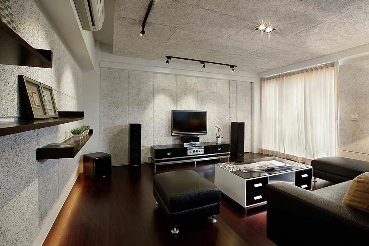 於牆面、天花板使用美絲吸音板融入室內設計,不僅在反射音的消除上表現明顯,也能同時呈現空間的自我個性。