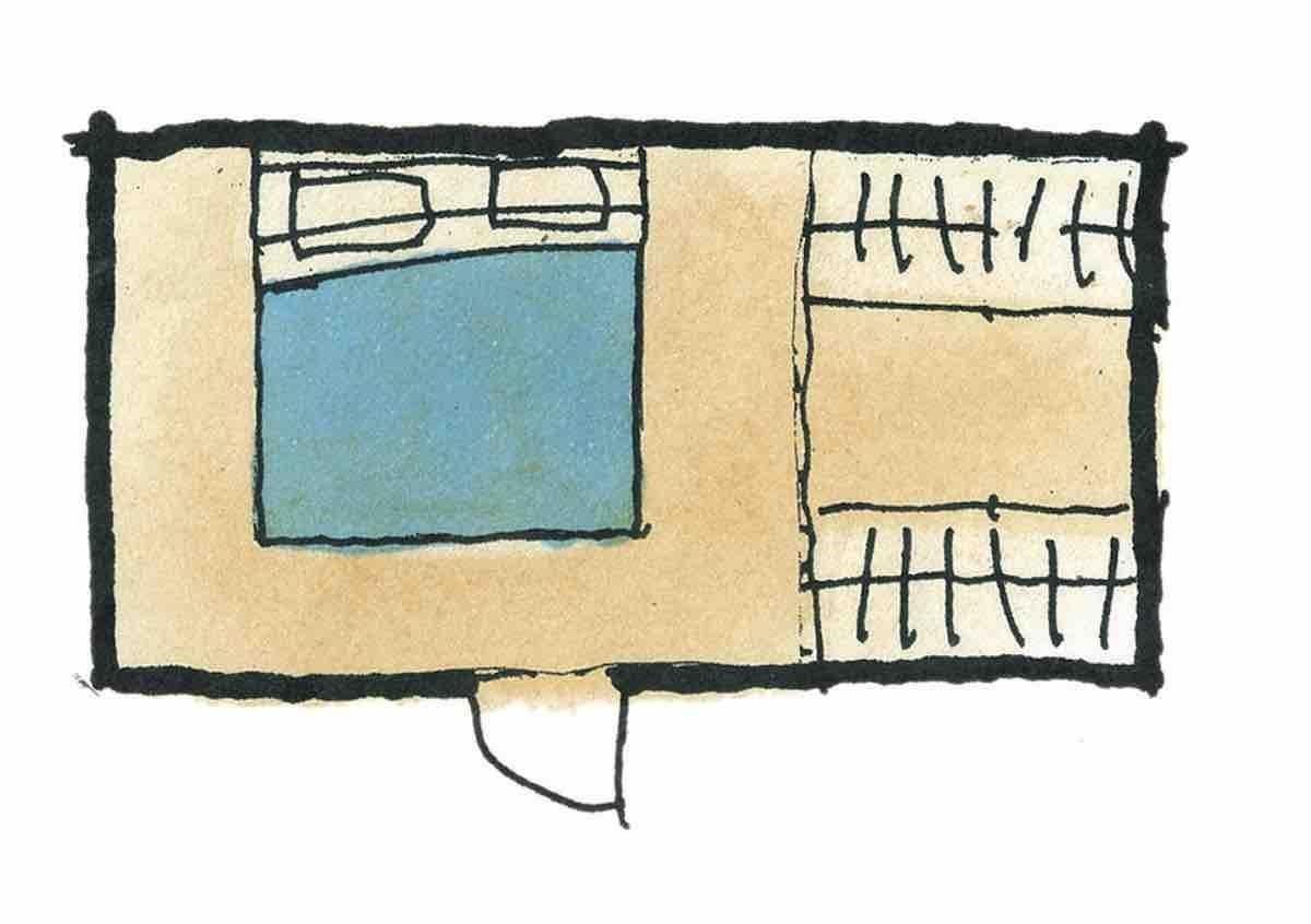 有更衣室(兩列式)的寢室—平面圖 圖片提供_漂亮家居麥浩斯