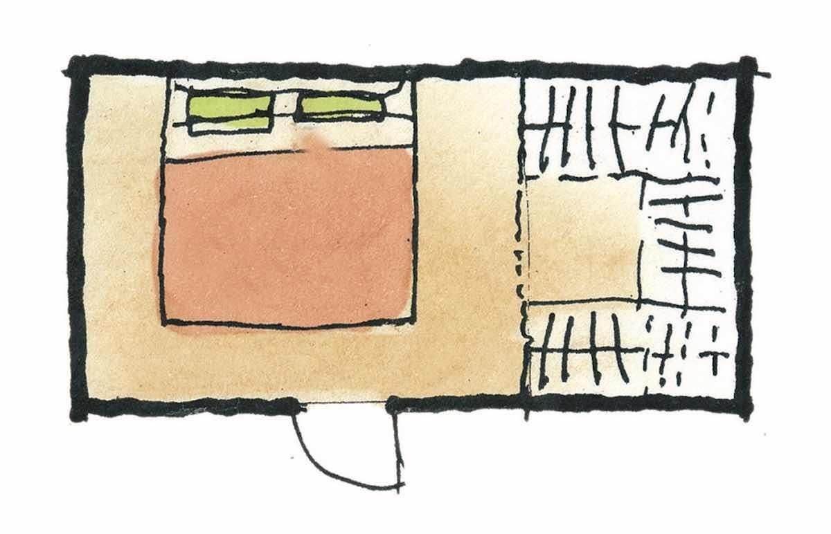 有更衣室(ㄇ字型)的寢室-平面圖 圖片提供_漂亮家居麥浩斯