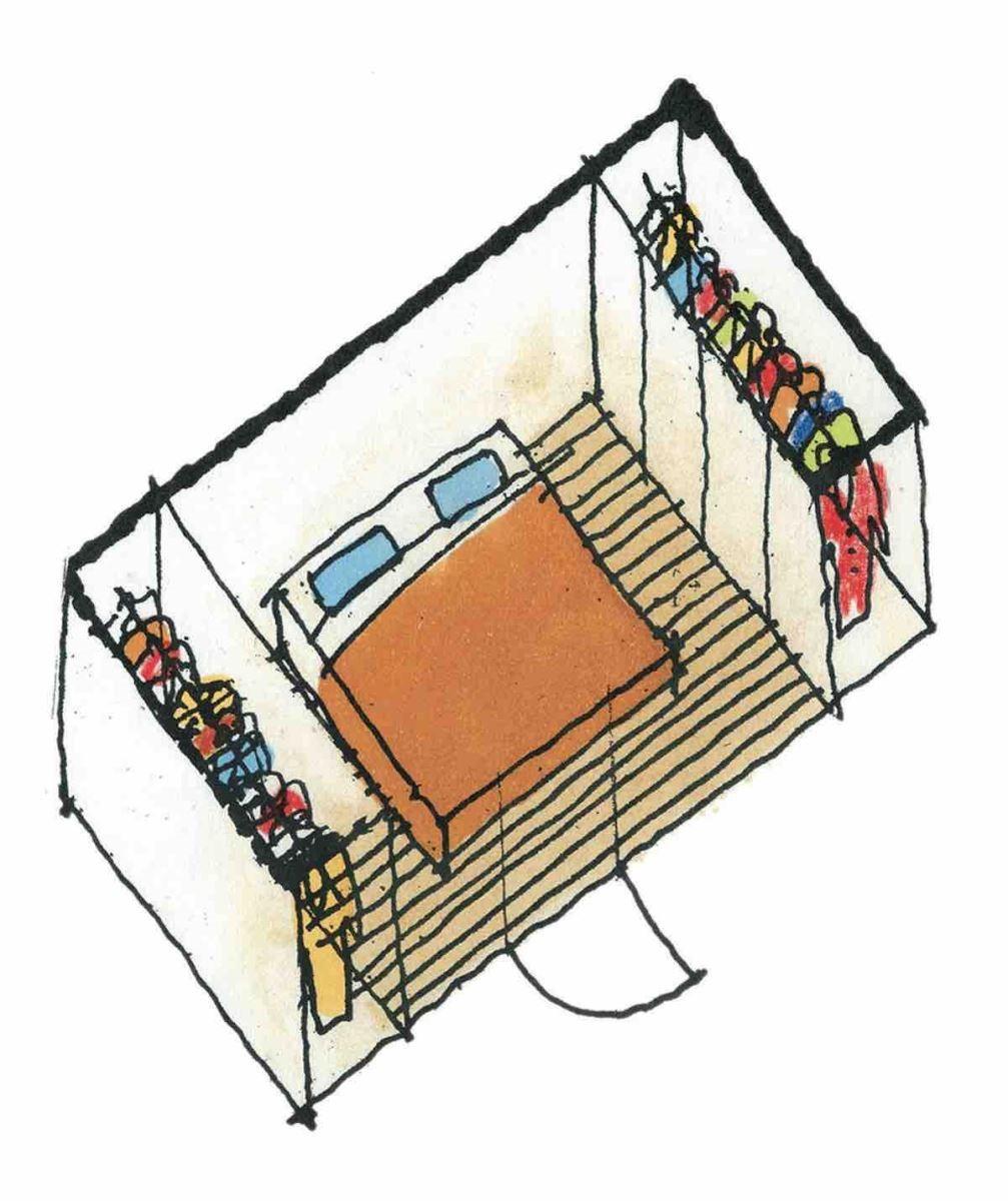 有衣櫥的寢室-等角透視圖 圖片提供_漂亮家居麥浩斯