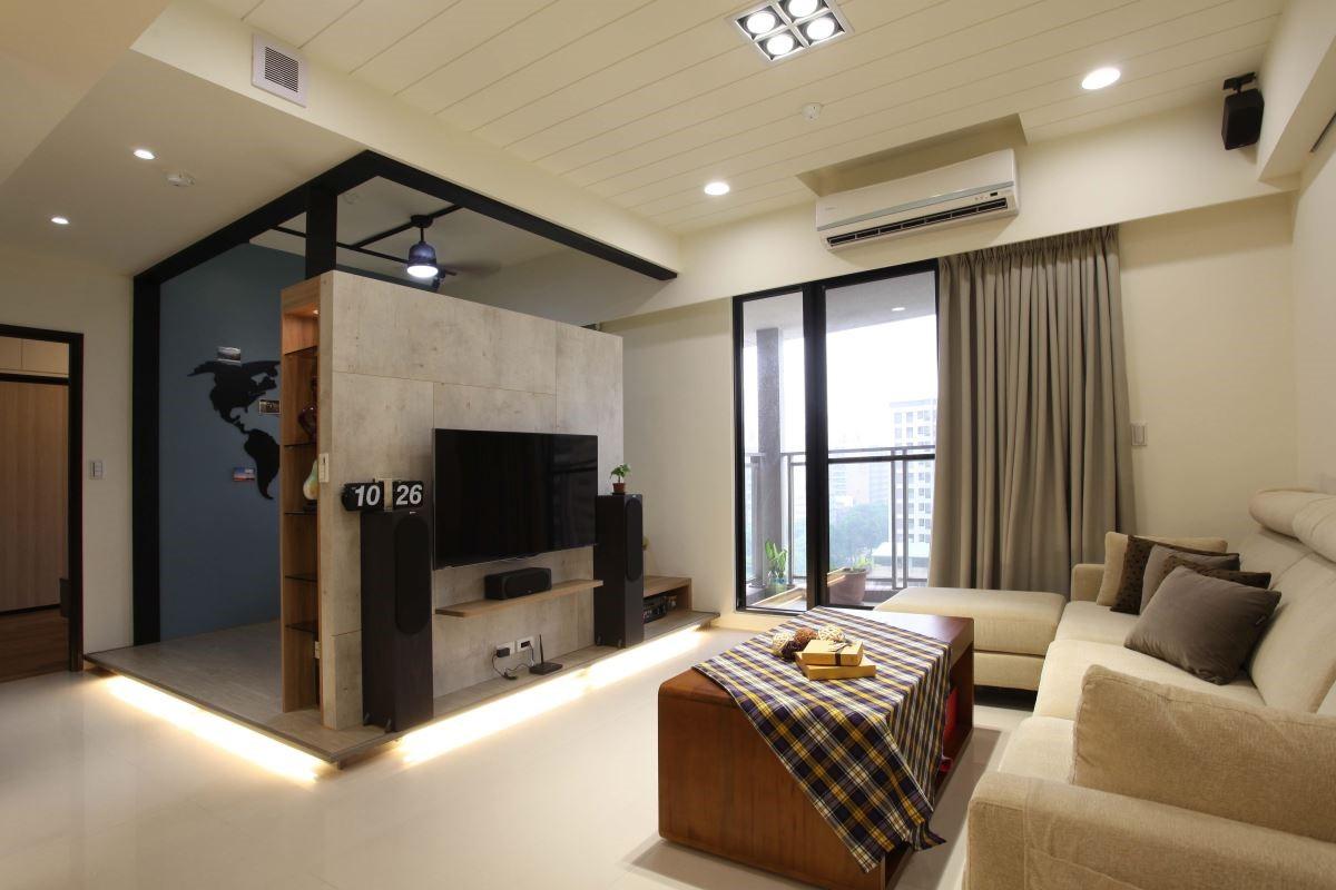 仿清水模的板材,質樸沉穩,是崇尚個人風格的屋主十分喜好的建材。