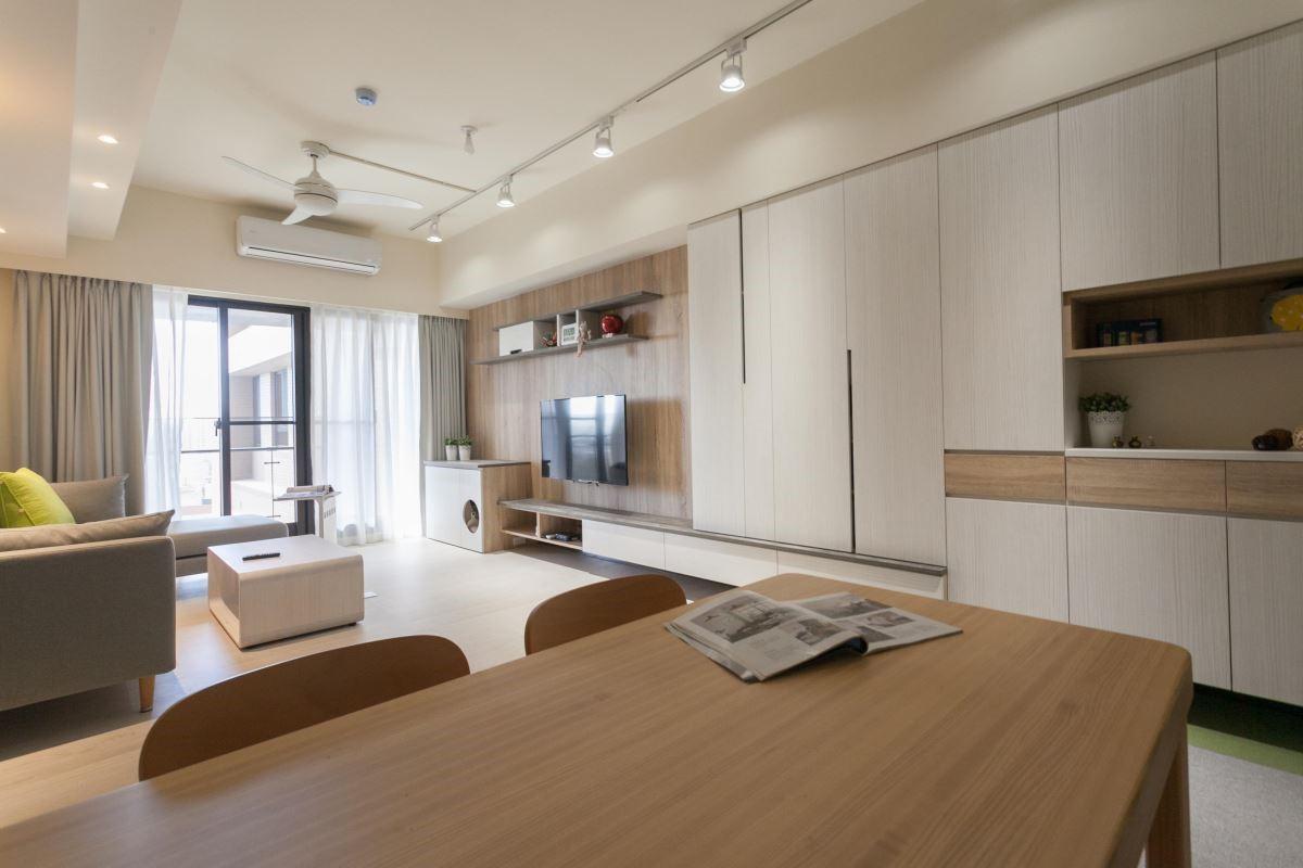 依照居家坪數、格局訂制各種尺寸的櫃體,安德康都能使命必達。