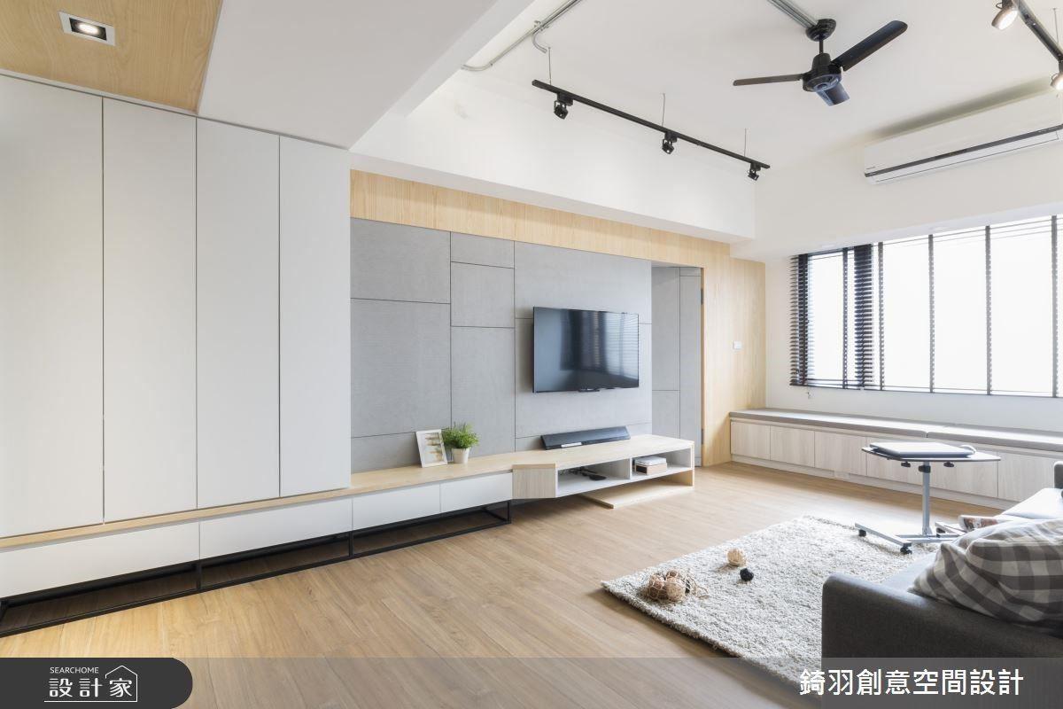 因應簡潔氛圍,減少不必要的櫃體陳設,落實俐落乾淨的空間表情。