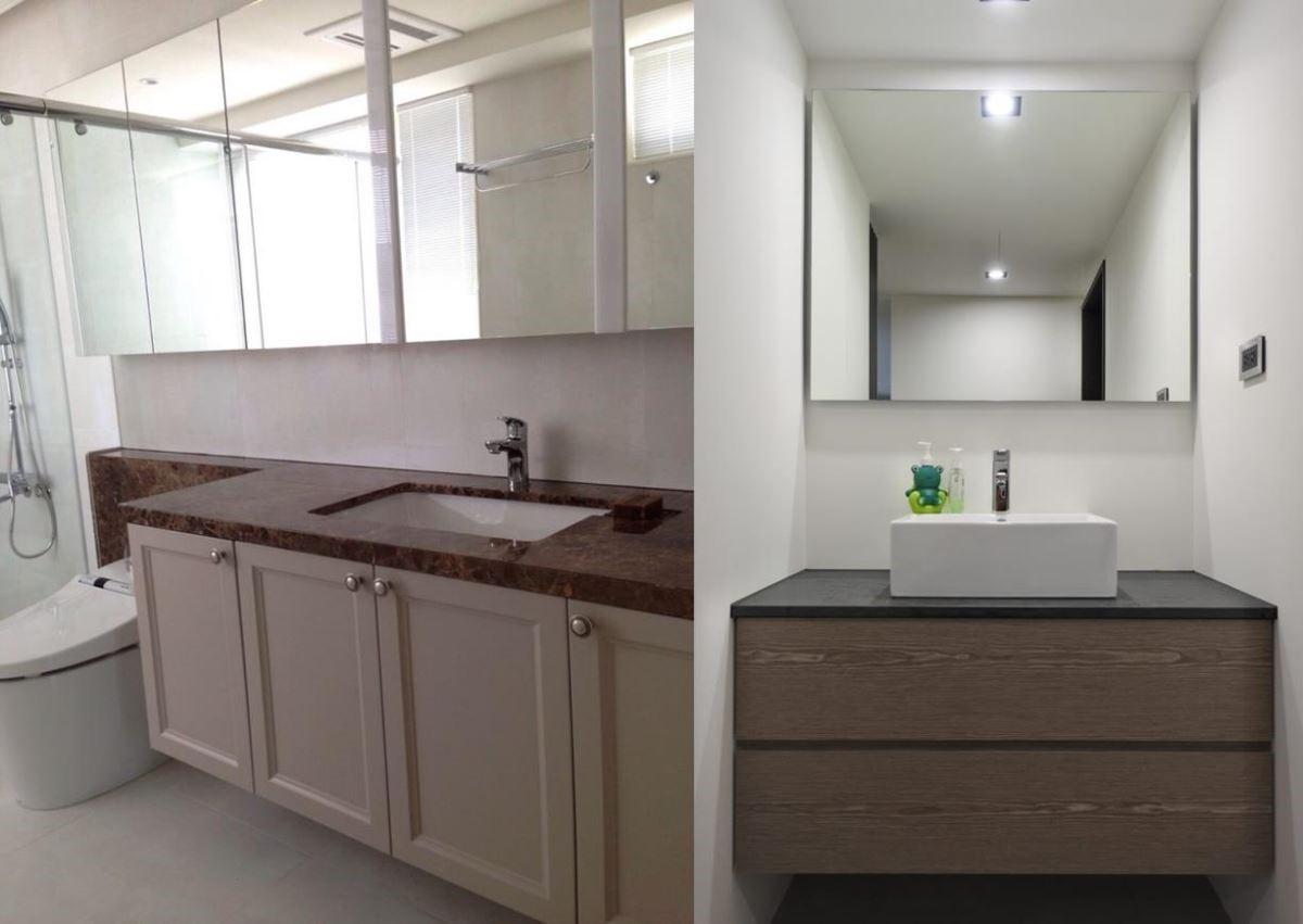 搭配如奶茶手工復古門片(左圖)和秋香木紋抽屜櫃(右圖)的櫃體顏色,彷彿引入森林意境般自然寫實。