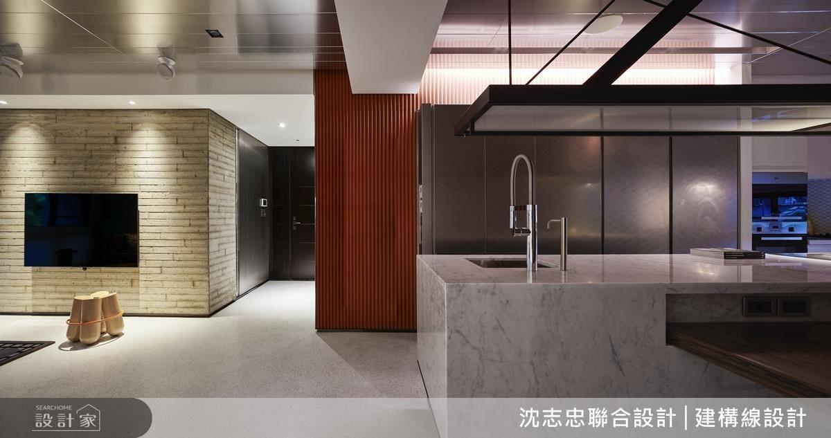 不同的立面飾材,多層次呈現空間質感。