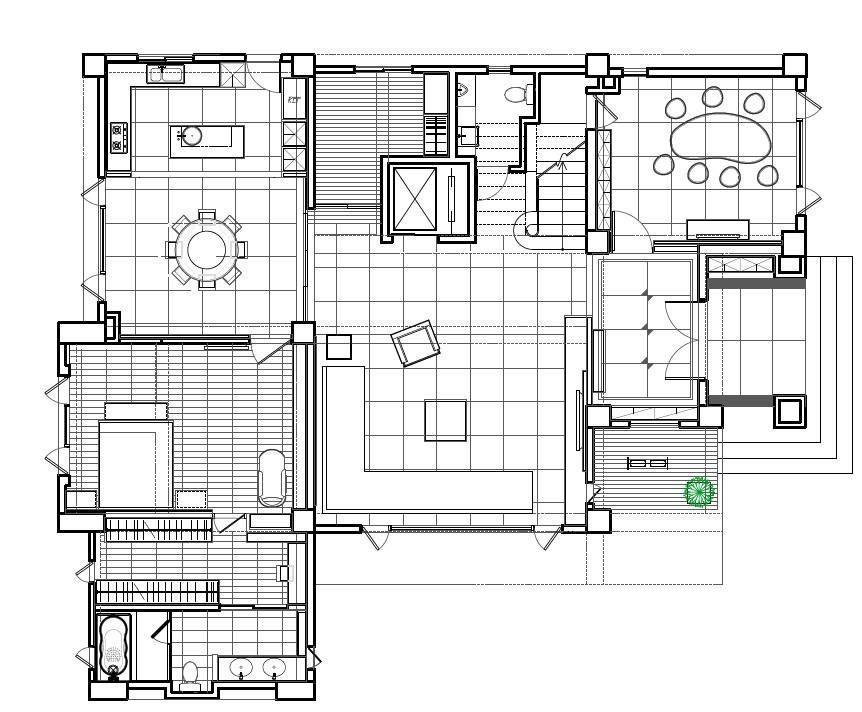 一樓平面圖提供_震騰室內裝修設計。