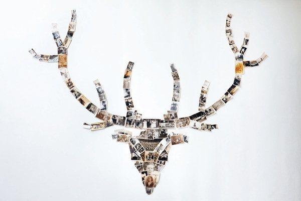看似普通的明信片與照片,也能依照自己的創意變成一隻麋鹿!