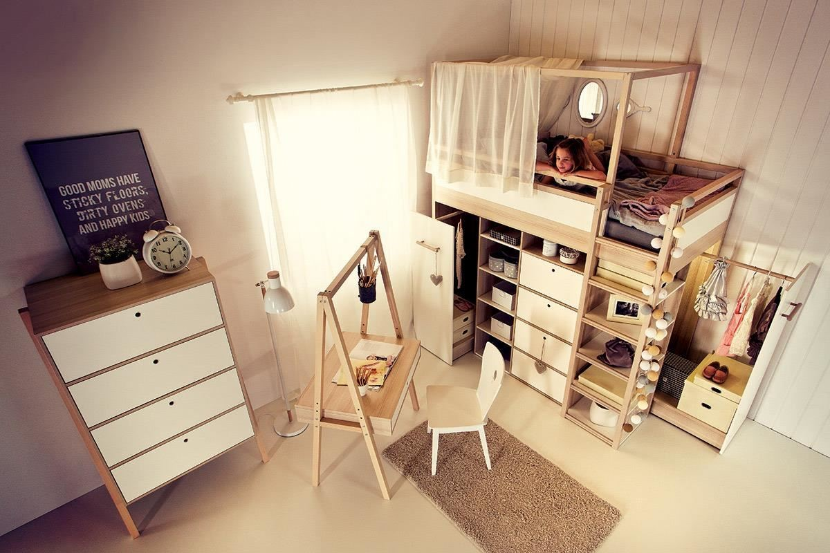 SPOT 系列最迷人的特色之一就是多元置物的設計,單人床下方即結合衣櫃與書櫃機能,寶貴空間絕不浪費!