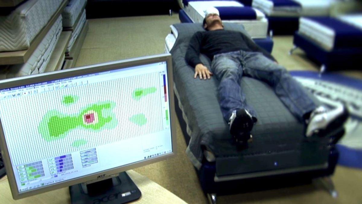 聖洛倫索研究人體肌肉壓力的分布與體溫升降情況,因此設計出 ERGO CHECK 技術,透過人體趟在床墊上所對應之部位(共包含648個感應器),優化床墊的支撐力。