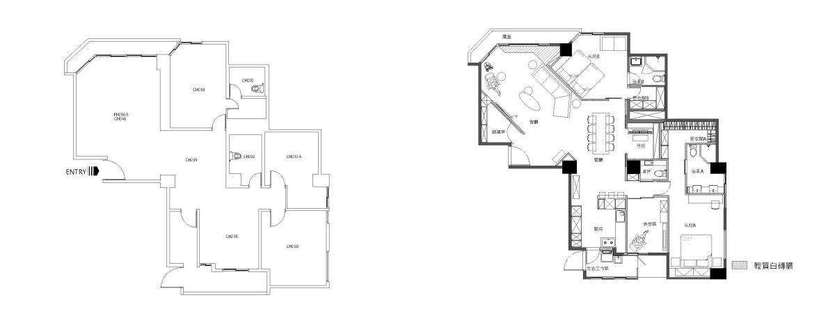 Before & After 平面圖提供_耀昀創意設計。