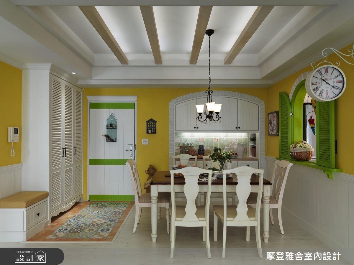 繽紛檸檬黃與蘋果綠的色系搭配,點亮空間色彩,連同心情也美麗了起來。