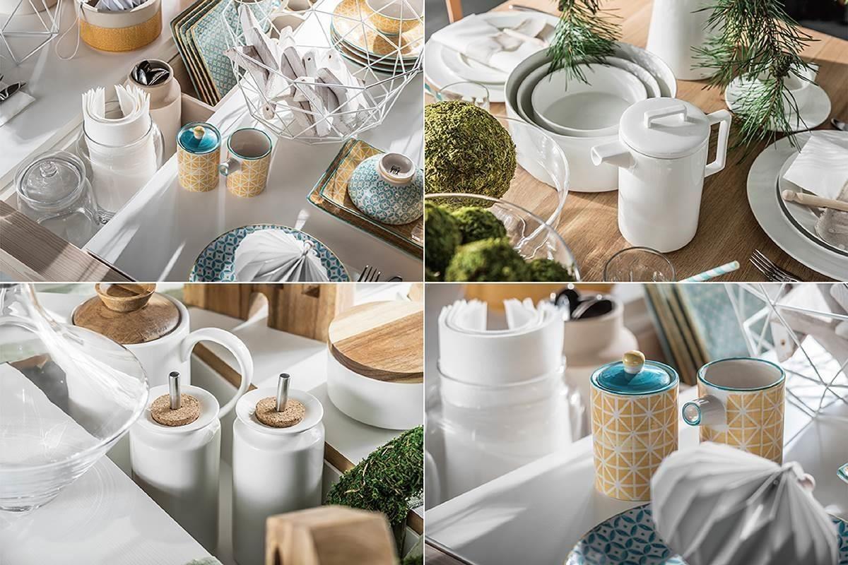 香檳或水瓶擺在餐桌中央的置物槽能避免打翻,或放上各式調味瓶、餐具,聚會的成敗其實就藏在小細節裡呢!