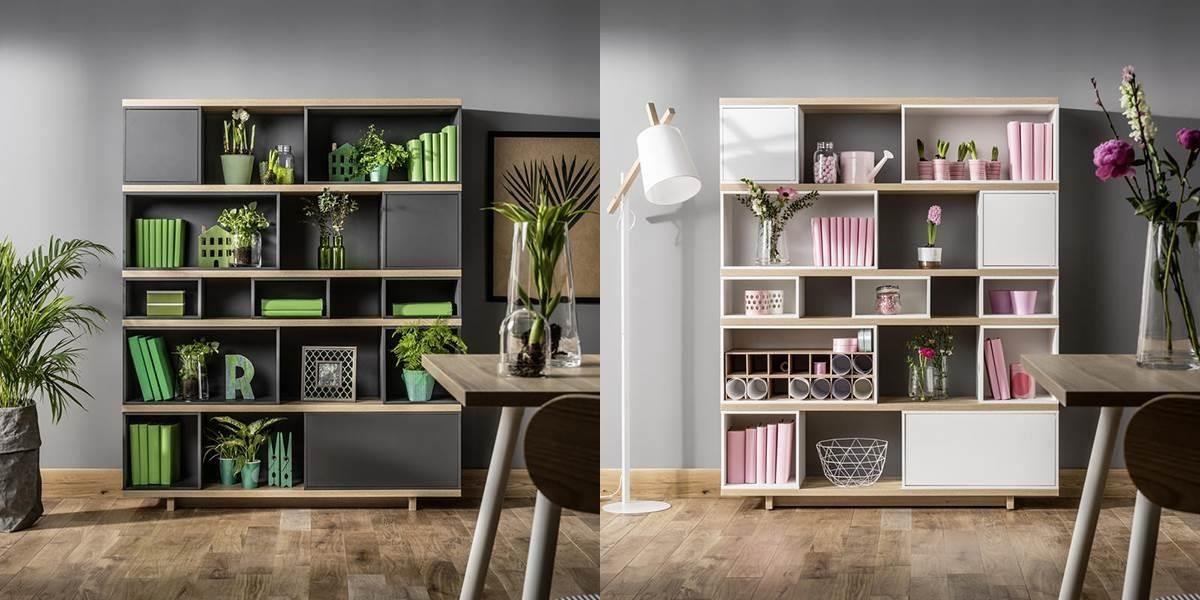 同款家具櫥櫃透過不同色系家飾的裝點下,呈現截然不同的風貌。