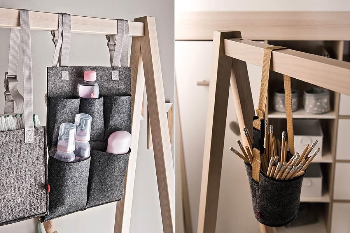 SPOT 系列毛氈收納小物,包含儲物盒、收納袋、掛籃,簡單的收納也可以這麼有型。