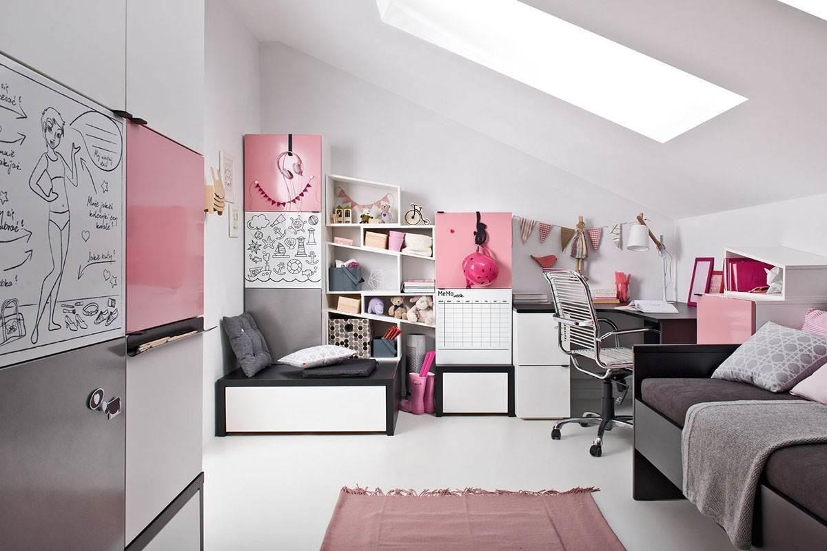 Young User 系列將微甜女孩的臥室加入灰黑元素,夢幻又帶點個性,從小就可以從生活中用創意的方式學習,也讓家具陪伴參與孩子的成長過程。