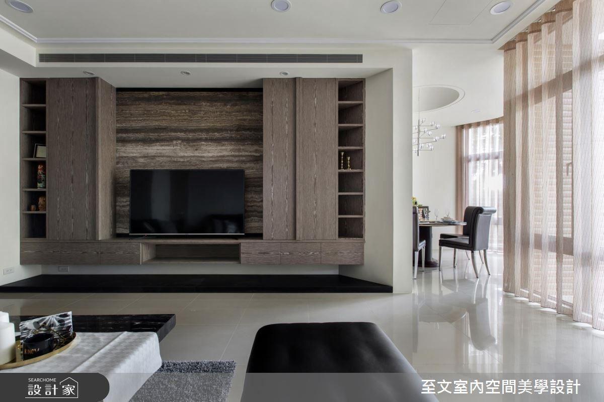 現代簡約的風格設計,再輔以具質感的材質,讓這間生活宅別具韻味。