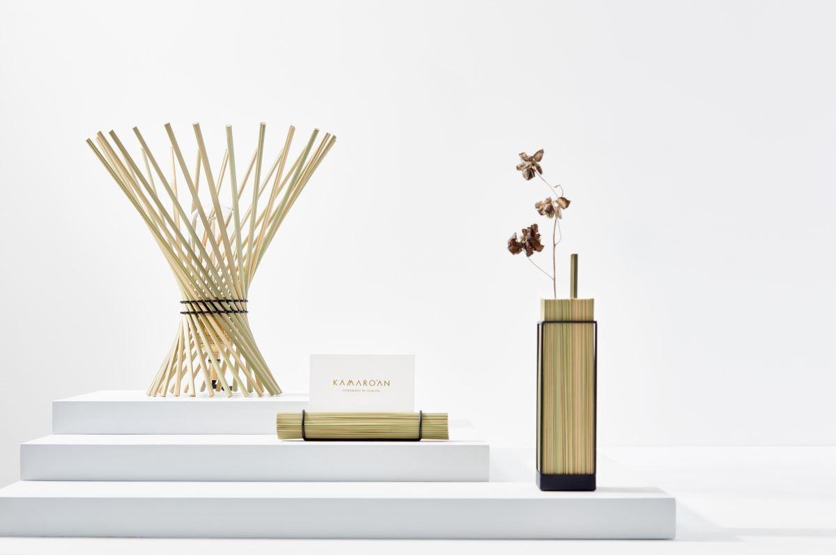 Kamaro'an推出的旋草燈、桌上風景系列。