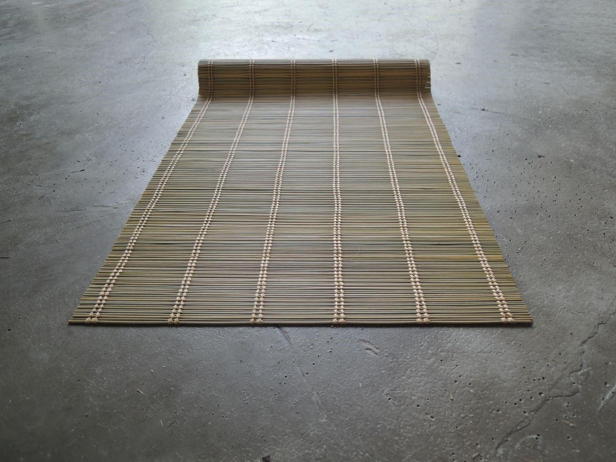 用輪傘草編職而成的草席。