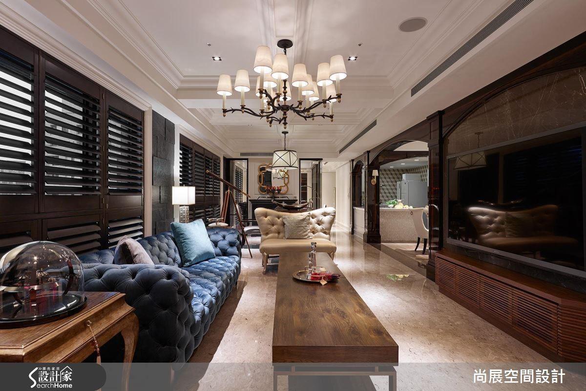 深色木百葉混搭工業古典元素,展現時尚曼哈頓情懷。