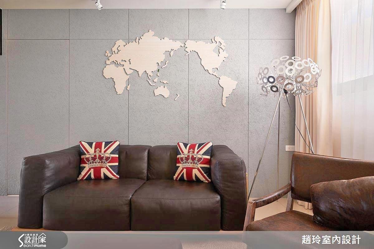 看更多這面世界地圖牆的案例圖片>>