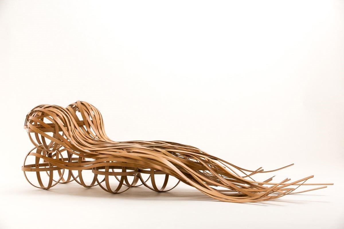 與竹藝師陳高明合作的作品「flow」,前進義大利獲得國際好評。