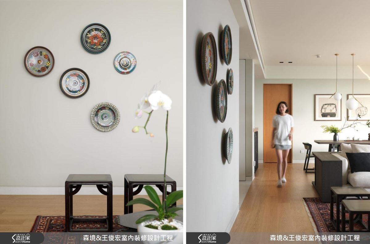 來自鶯歌的圓盤陶瓷擺飾,巧妙為空間注入現代藝術的靈魂。